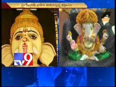 63 feet clay Ganesh idol in Vijayawada