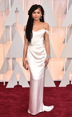 Zendaya wearing Vivienne Westwood attends the 87th Annual Academy Awards at Hollywood & Highland Center on February 22, 2015