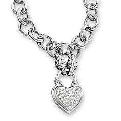 Zales Jewelry Necklaces >> Diamond Lock And Key Sterling Silver Necklace From Zales I Want