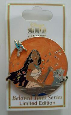 Disney Pin DSF Beloved Tales Pocahontas Flick Meeko LE300 on Card #Disney