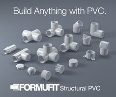 How to build anything with PVC.FORMUFIT PVC Plans Library Get Inspiration to build your ideas. Or just build ours. FREE PLAN maybe for nine square in the air Pvc Pipe Crafts, Pvc Pipe Projects, Diy Projects To Try, Home Projects, Diy And Crafts, Craft Projects, Welding Projects, Project Ideas, Pvc Furniture