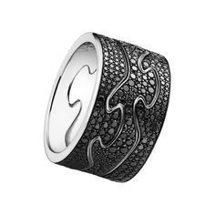 Georg Jensen Fusion Ring with Pave Black Diamonds - LOVE IT!!