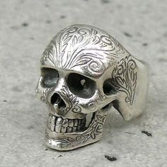 NUMBER(N)INE X MAGICALDESIGN silver scull ring size: 17-09