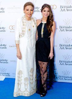 La emperatriz Farah Diba presenta en sociedad a su nieta, la princesa Noor de Irán #realeza #royalty