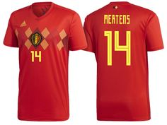 9d2c30608f5 Belgium 2018 World Cup Home Jersey dries mertens Thorgan Hazard