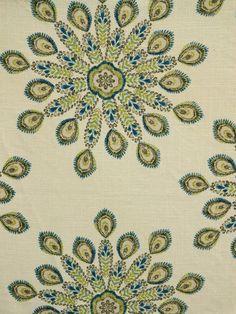 PAVO 665 AQUADISIAC #blue-turquoise #kilim #print-fabrics #suzani