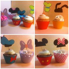 Mickey Mouse clubhouse cupcake decorations- set of 6