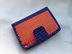 Polka Dots Women's Handmade Bifold Fabric Wallet by designedbyEzgi