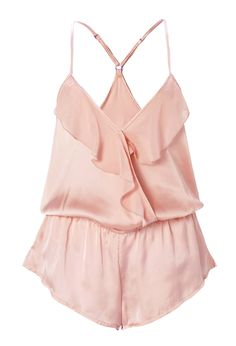 Flounced Sleep Romper | FOREVER21 Sleep in satin #F21Crush #Pajamas #ValentinesDay