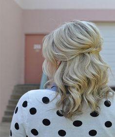 Pretty Half Up Half Down Medium Hairstyles