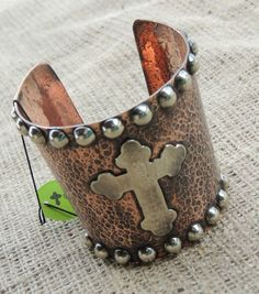 Gypsy Soule Copper Cross Cuff-