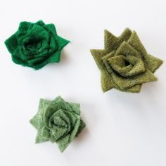 scraps of reflection: DIY Rolled Felt Succulent Cacti for Decor and Cards
