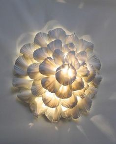 Light and porcelain sculpture by Margaret O'Rorke