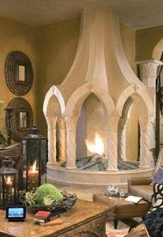 46 Best Unique Fireplaces In Outdoor Images