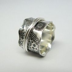 Fine Jewelry Generous 925 Sterling Silver Wave Band Ring Size 5.00 Stackable Curved Fine Jewelry Aesthetic Appearance