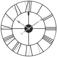 Horloge en métal noir D 60 cm | Maisons du Monde