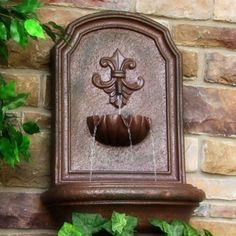 Marsala Outdoor Solar Wall Fountain Weathered Iron Water Feature Garden  Decor | Gardens, Products And Decor