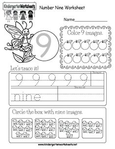 Kindergarten Numbers Worksheets - Learning numbers is a fun activity. Letter O Worksheets, Number Worksheets Kindergarten, Sight Word Worksheets, English Worksheets For Kids, Preschool Writing, Numbers Preschool, Learning Numbers, Math Sheets, Bee Bee