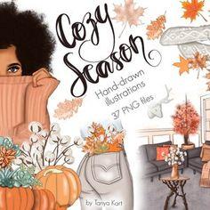 Autumn Breeze Fall Clipart Pumpkin Queen Fall Leaves | Etsy Halloween Clipart, Christmas Clipart, October Clipart, Girls Clips, Art Clipart, Slumber Parties, Planner Stickers, Printable Stickers, Watercolor Art