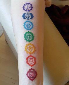 chakra tattoo on arm . Take a look at Yoga Tattoos, Spine Tattoos, Tattoo On, Tiger Tattoo, Back Tattoos, Mandala Tattoo, Body Art Tattoos, New Tattoos, Girly Tattoos