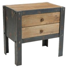 Stack glossy magazines atop this 2-drawer end table or display a sleek lamp on top for eye-catching contrast. Showcasing a distressed frame, this handsome de...