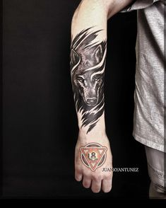 - My list of best tattoo models Wolf Tattoo Forearm, Wolf Tattoo Sleeve, Cool Forearm Tattoos, Arm Band Tattoo, Body Art Tattoos, Hand Tattoos, Sleeve Tattoos, Geometric Wolf Tattoo, Tribal Wolf Tattoo