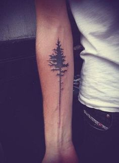 30 Awesome Forearm Tattoo Designs Minimalist Tree Tattoo on the forearm. What a cool tattoo design idea! This will be my next tattoo design. over forcreativejuice …. Tattoos Bras, Model Tattoos, Time Tattoos, New Tattoos, Sleeve Tattoos, Maori Tattoos, Temporary Tattoos, Forearm Tattoo Design, Forearm Tattoo Men