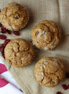 Cranberry-Orange Pumpkin Spice Muffins | Brittany's Pantry - Outrageously good little gems of wonderfulness.
