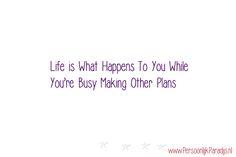 Je kan van alles plannen en willen, soms loopt het anders.  En het is wel oké om daar als dromer soms even aan herinnerd te worden...Krijg je een lesje nederigheid. Lees mijn blog artikel: http://www.persoonlijkparadijs.nl/lesje-nederigheid/