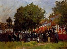 Festival at Argenteuil, 1872. Claude Monet