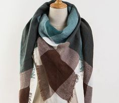 Teal Blanket Scarf, Plaid Blanket Scarf, Winter Scarf, Womens Plaid Scarf, Tartan Scarf, Blanket Plaid Scarf, Oversized Scarf, Gift For Her  This super large scarf is very soft with unique and cute prints. Wear it to jazz up your outfit. Lightweight. Looks amazing on. Great addition to your fall and winter wardrobe. Brand New and can be worn for a casual look. Soft and genuine. A great accessory for formal and casual wear. Luxurious rarity; incomparable softness, warmth and durability & ...