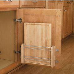 Cutting Board With Holder - Designed to Conceal a Cutting Board Behind Cabinet Doors | KitchenSource.com