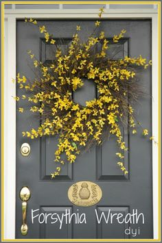 Beautiful easy to make forsythia wreath
