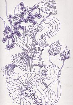 botanical #doodles, #tangle art, #zia,