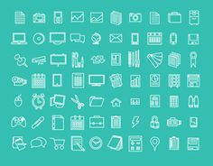 Simple, Clean, Flat, Free, Icons, Design, Tim Degner, Seattle, Vector, AI, UI, UX, Social Media, Icon Set