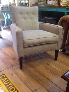 Blue herringbone chair 2
