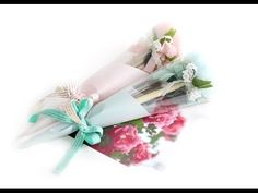Wrap a rose with tissue paper #wrapflowers - YouTube