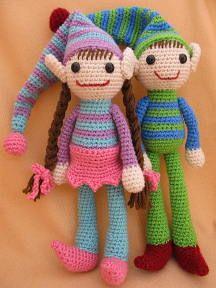 """Crochet Pattern: Ernie and Erline Elf Crochet Amigurumi Pattern"" #Amigurumi  #crochet"