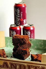 Magdalenas de Chocolate: Brownie de chocolate y cocacola cherry