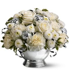 White Flower Arrangements for Weddings | giftware be a hero something simple wedding flowers holiday flowers