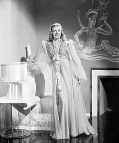 Ginger Rogers in 1940s negligee