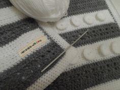 Annie Suzie's handmade crochet baby blanket made for Milo.