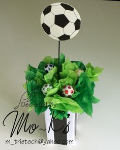 New Basket Ball Decorations Center Pieces Ideas Soccer Birthday Parties, Football Birthday, Sports Birthday, Soccer Party, Birthday Party Themes, Soccer Centerpieces, Party Centerpieces, Soccer Baby Showers, Soccer Banquet