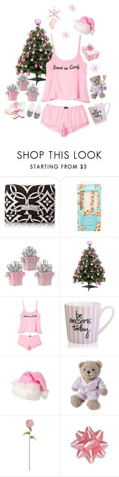 """""""Pink Christmas"""" by kaleah-sixx ❤ liked on Polyvore featuring Vera Bradley, Hot Topic, Wildfox, ELSE, Lexington, Shabby Chic, Victoria's Secret, Christmas, gifts and happyholidays"""