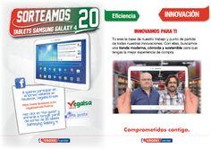 ¡¡ En Vegalsa-Eroski comenzamos con el sorteo de las 4 primeras tablets Samsung Galaxy Tab 4 !!