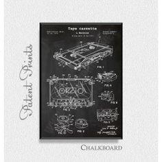 Tape Cassette 1974 Patent Print