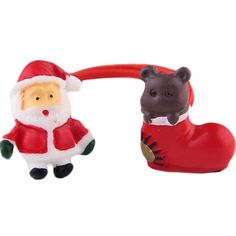 Set of 5 Cute Santa And Bear Shoes Hair Rope Ponytail Holders -- Check out this great article. #hairdiva