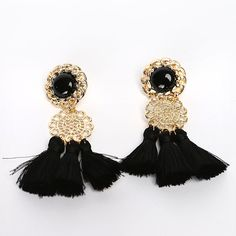 Antique Tassel Earrings // Storets.com // #Accessories #trend #fashion #jewelry