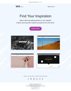 You won't regret looking at these sites! Email Design Inspiration, Get Started, Finding Yourself, Website