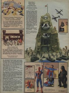 Stretching Superman and Shogun Warrior's Godzilla.